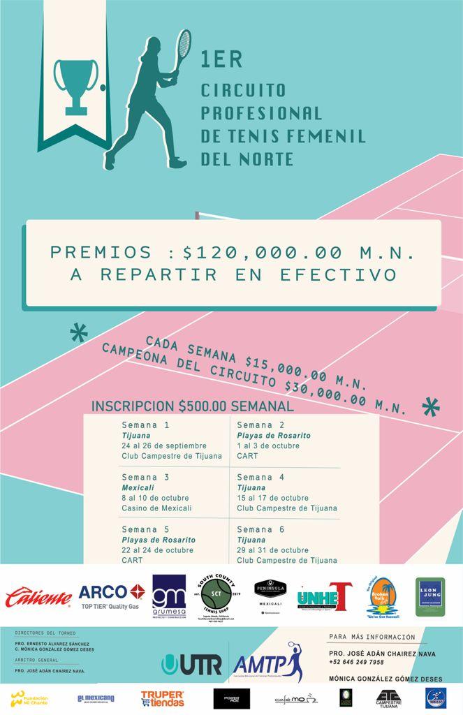 1er. Circuito Profesional de Tenis Femenil del Norte – Semana 4