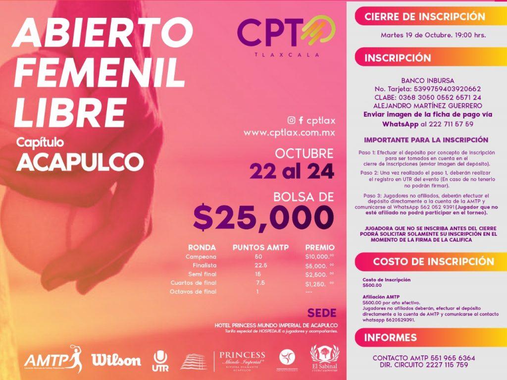 Abierto Femenil Libre Capítulo Acapulco