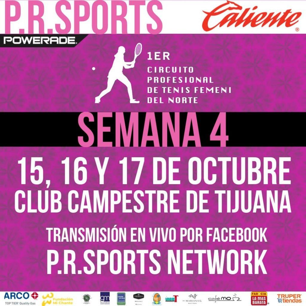 Registro UTR para el 1er Circuito Profesional de Tenis Femenil del Norte Semana 4